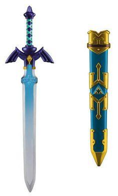 The Legend of Zelda: Link Sword Includes one sword with sheath. This is an officially licensed Legend of Zelda product. The Legend Of Zelda, Zelda Sword, Skyward Sword, Master Sword, Hobbit Costume, Zelda Birthday, Toy Swords, Zelda Tattoo, Link Cosplay