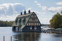 Swallow Boathouse on Lake Winnipesaukee, New Hampshire
