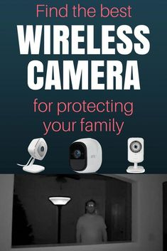 Protect your family with a wireless camera. These don't require any monthly fees and work without any complicated wires. Wireless Home Security Systems, Wireless Security Cameras, Security Companies, Smart Home Security, Security Surveillance, Safety And Security, Security Cameras For Home, Security Alarm, Wireless Video Camera