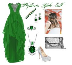 """Slytherin Yule ball"" by hmassey1231 on Polyvore"