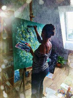 Jsem malířka z Brna a tvořím ve svém bytě, který je mi ateliérem. Vedu výtvarné kurzy abstrakce, kde studenty učím svobodnému vyjádření. Slunce může být klidně i zelené, když to tak cítíte :) Loni na podzim jsem odešla ze zaměstnání, abych měla na malování více času. Rozhodla jsem se spojit dvě své vášně, výuku a malbu a organizuju výtvarné kurzy, které nazývám svobodné malování. Celé dětství a
