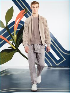 Soft hues bring a confident ease to Perry Ellis' spring-summer 2017 collection.