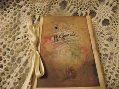 Hane made Art Journal Pocket Journal  Tie With Satin by mslizz