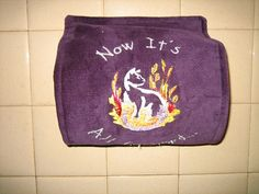 Pet Toilet Paper Cover protectorpurple by ApronsGallery on Etsy, $19.99
