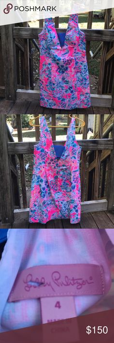 EUC Lilly Dress! Only worn once! Gorgeous dress!! Very flattering. Size 4. Lilly Pulitzer Dresses