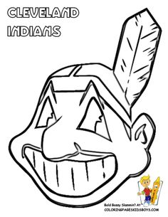 For my friends who teach core classes. Cleveland Indians coloring sheet.
