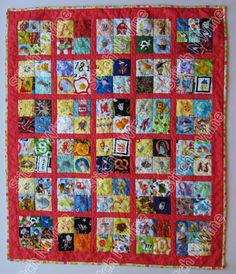 I Spy Quilt Child's Alphabet Themed Look Quilt ispy by StitchNWine