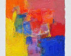 27 avril 2017 peinture - abstrait peinture à l'huile - 9 x 9 (9 x 9 cm - environ 4 x 4 pouces) avec 8 x 10 pouces mat