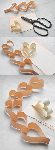 DIY Paper Hearts diy craft crafts craft ideas easy crafts diy ideas diy crafts easy diy home crafts diy decorations craft decor Valentine Day Crafts, Be My Valentine, Holiday Crafts, Fun Crafts, Crafts For Kids, Arts And Crafts, Diy Projects To Try, Craft Projects, Heart Garland