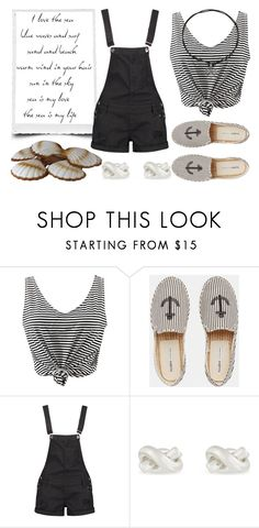 """""""Stripes"""" by hola-hi ❤ liked on Polyvore featuring WithChic, Pull&Bear, Boohoo, Kate Spade, Sailor, stripes and sea"""