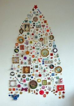 Make a wall decal tree. | 21 Ways To Decorate A Small Space For The Holidays