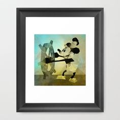 """Mickey """"The Mouse"""" Steamboat Framed Art Print by Ed Burczyk - $33.00"""