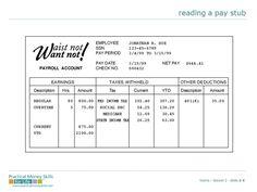 pay stub template document sample business pinterest. Black Bedroom Furniture Sets. Home Design Ideas