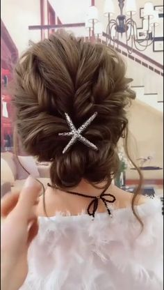 Cutie Hairstyle Up Dos For Short Hair cutie hairstyle Easy Hairstyles For Long Hair, Up Hairstyles, Classy Hairstyles, Long Hair Casual Updo, Simple Hair Updos, Hair Do For Medium Hair, Easy Updos For Medium Hair, Hair Up Styles, Medium Hair Styles