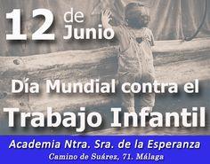 12 de Junio: Día Mundial contra el Trabajo Infantil. Más info: https://www.acesperanza.com/dia-mundial-trabajo-infantil/
