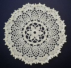 free crochet pattern for this Passion Flower Doily - by Denise (Augostine) Owens on ravelry