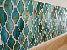 How to install a glass tile backsplash... amazing laundry room transformation! [Sawdust and Embryos}