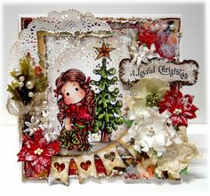 Merry Christmas Tilda, Peaceful Christmas Tree with  Merry Christmas Banner & sentiment