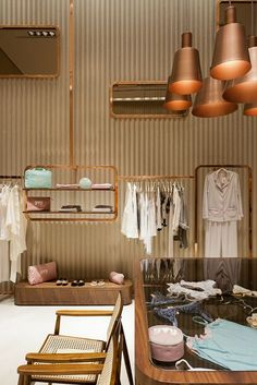 View the full picture gallery of Yvy Store Clothing Store Design, Showroom Interior Design, Wardrobe Rack, Boutique, Gallery, Retail, Pictures, Fashion Design, Furniture