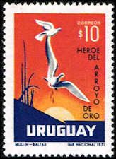 Uruguay #823 Stamp for sale  Dove & Wounded Bird Stamp