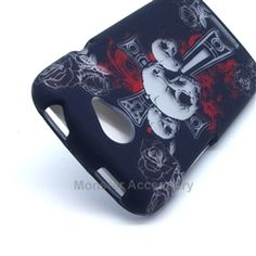 Click Image to Browse: $5.95 HTC One S Case - Cross Skull Hard Snap On Cover