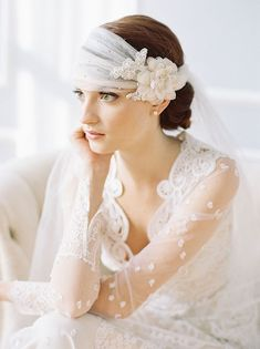 gorgeous lace veil from Erica Elizabeth Designs