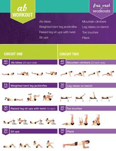 Kayla Itsines Free Ab Workout - get the perfect abs fast! | #workout #fitness…
