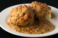 """I've been craving some """"good ol southern cookin."""" I mean really southern...like, past the border southern. Chorizo Gravy and Biscuits"""