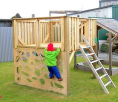 diy learning playground | that inspires creative play and full body exercise. This playground ...  Above the playhouse? Use ladder left over?