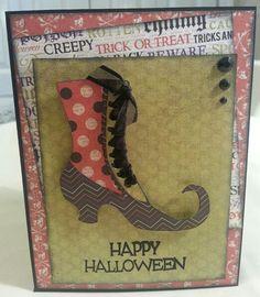 Cricut Happy Hauntings Halloween Card Cricut Halloween Cards, Halloween Paper Crafts, Cricut Cards, Halloween Projects, Halloween Ideas, Cute Halloween Decorations, Creepy Halloween, Halloween 2017, Happy Halloween