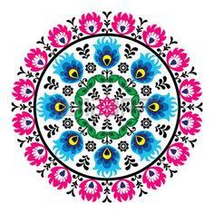 Polish traditional folk pattern in circle photo