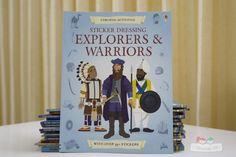 Sách Usborne Sticker Dressing Explorers & Warriors
