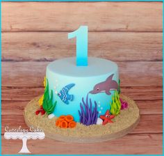 Cute under the sea themed cake ♥