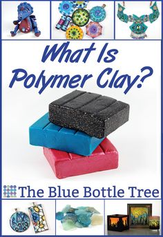 New to Clay? - The Blue Bottle Tree bottle crafts What is Polymer Clay? - The Blue Bottle Tree Polymer Clay Kawaii, Polymer Clay Tools, Polymer Clay Animals, Polymer Clay Miniatures, Fimo Clay, Polymer Clay Projects, Clay Crafts For Kids, Blue Bottle, Clay Tutorials