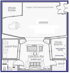 525 x 550 ( Home Recording Studio Setup, Recording Studio Equipment, Audio Studio, Music Studio Room, Studio Floor Plans, Basement Studio, Music Studios, Thesis, Architecture