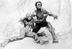 Frank Frazetta Woman Sketches | Below: Frazetta's work begins to take shape and begins to look ...