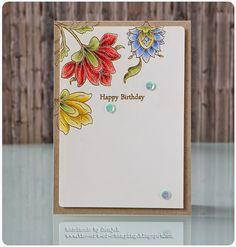 "Geburtstagskarte   birthday card - Altenew ""Persian Motifs"", Faber-Castell Polychromos, heat embossing, GD für CAS(e) this Sketch #126"
