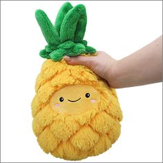 Kawaii plush stuffed toys - cuddly and furry friends Mini Comfort Food Pineapple! Food Pillows, Cute Pillows, Kawaii Plush, Cute Plush, Food Plushies, Cute Stuffed Animals, Cute Toys, My New Room, Kids Toys