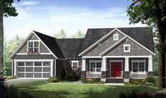 Cottage Country Craftsman House Plan 59939