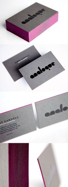 Minimalist Design Super Thick Edge Painted Business Card