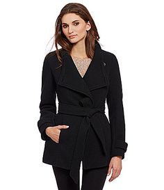 Jessica Simpson Belted Wrap Coat #Dillards
