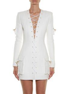Resultado de imagem para short white dress balmain
