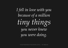 a million tiny things.