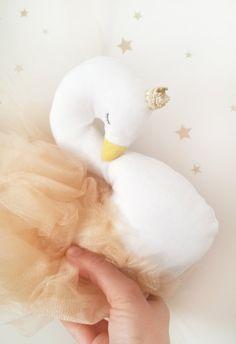 Stuffed swan decor for Kids interior and nursery rooms cygne
