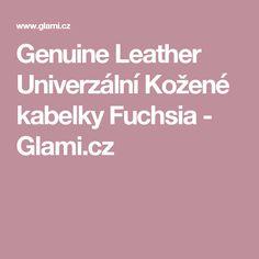 Genuine Leather Univerzální Kožené kabelky Fuchsia - Glami.cz