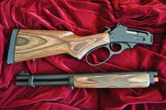 Custom Marlin 1894 (.45-70 GBL) Easier for backpacking, airline travel and admit it.... it's just cool! It's John Wayne meets James Bond! We can convert your factory lever action rifle into a handy takedown lever action. This one is a Marlin 45-70 GBL along with one of our custom cases. The Arms Room, LLC 719-680-1255