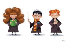 Kids Art. Peter Emmerich: Harry Potter trio
