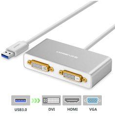 تبدیل 2 تصویره USB 3.0 به DVI / HDMI / VGA مارک Ugreen