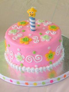 Tartas para niña: La fiesta de su primer cumpleaños | EntreChiquitines
