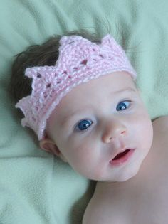Princess Crown Crotchet Headband for baby or child